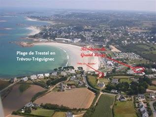 4 Locations 2p vue magnifique plage de Trestel, 3CléVacances