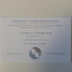 Cabinet d'ostéopathie Thibault Daublain