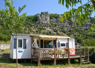 Camping Ardeche -Camping les Platanes- Camping avec piscine - Location mobile home Ardéche